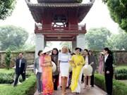 Cónyuge de vicepresidente de EE.UU. visita Templo de Literatura