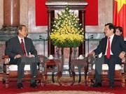 Recibe presidente vietnamita a dirigente laosiano