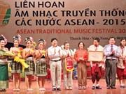 Clausuran festival musical tradicional de países de ASEAN