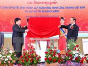 Vietinbank inaugura entidad subordinada en Laos