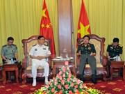 Ministro de defensa recibe a alto oficial de ejército chino