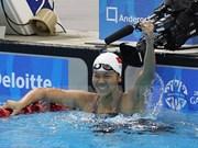 Gana Anh Vien otra presea en torneo mundial de natación