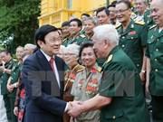 Presidente vietnamita destaca lealtad de unidades militares