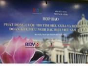 Lanzan concurso sobre relaciones Vietnam- Cuba