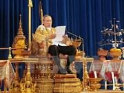 Rey tailandés ratifica lista de nuevo gabinete