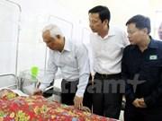 Accidente de mina: Dirigente parlamentario visita víctimas