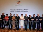 ASEAN y Canadá fijan a multiplicar trasiego comercial
