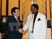 Presidente recibe a saliente embajador nigeriano