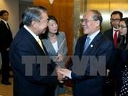 Se reúnen dirigentes parlamentarios vietnamita y japonés