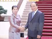 Vicepremier vietnamita recibe a homóloga cambodiana