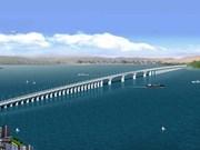 Agilizan construcción de mayor puente marítimo en Vietnam
