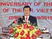 Líderes vietnamitas celebran Día Nacional con recepción