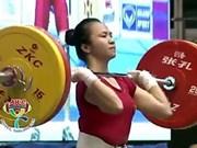 Halterista vietnamita gana medallas de oro en torneo regional