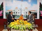Dirigente de Ciudad Ho Chi Minh recibe a delegación de Champasak