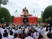 Homenaje al rey Quang Trung en su tierra natal