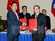 Firman Vietnam y Laos acuerdo de cooperación en transporte