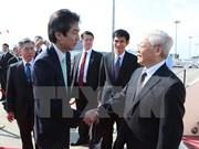 Líder partidista llega a Tokio para iniciar su visita oficial