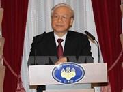 Líder partidista vietnamita continúa su agenda de trabajo en Japón