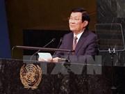 Emite Vietnam en Cumbre de ONU mensajes de paz y desarrollo