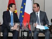 Presidente vietnamita se reúne con su homólogo francés