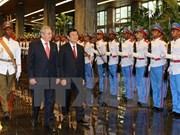 Presidente vietnamita conversa con su par cubano en La Habana