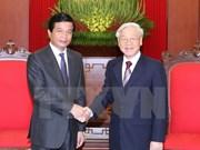 Máximo dirigente partidista recibe a saliente embajador laosiano
