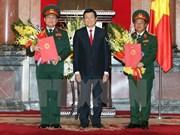 Ascienden a rango de general a dos jefes castrenses vietnamitas