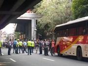 Un hombre armado ataca autobús en Filipinas
