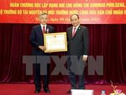 Ministro laosiano condecorado con Orden de Independencia de Vietnam
