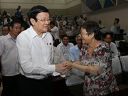 Presidente dialoga con votantes de Ciudad Ho Chi Minh
