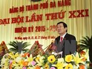 Presidente asiste a la asamblea partidista de Da Nang