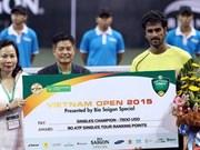 Conquista raquetista indio torneo abierto de tenis vietnamita