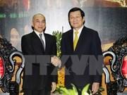 Presidente vietnamita se entrevista con rey cambodiano