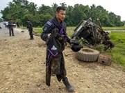 Dos policías mueren en atentado con bomba en Tailandia