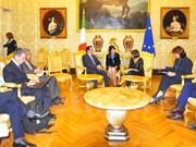 Delegación partidista vietnamita visita Grecia e Italia