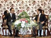 Recibe presidente vietnamita a exmandatario sudcoreano