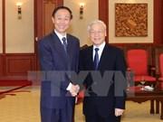 Recibe máximo líder partidista de Vietnam a dirigente chino