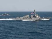Destructor de EE.UU patrulla en Mar Oriental