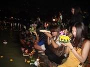 Celebran por primera vez en Vietnam festival tailandés Loy Krathong