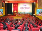 Inauguran XVI Asamblea del Comité partidista de Hanoi