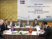 Vietnam con afán de adquirir experiencias islandesas en energía renovable