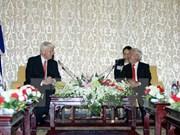 Presidente de Islandia visita Ciudad Ho Chi Minh