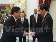 Presidente Joko Widodo recibe a embajador vietnamita