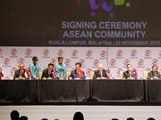 Ratifican Declaración Kuala Lumpur sobre formación de Comunidad de ASEAN