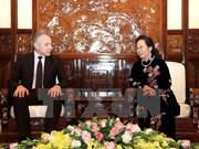 Vicepresidenta vietnamita recibe a delegación sindical de Belarús