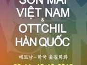 En Hanoi exposición de arte de laca de Vietnam y Sudcorea