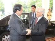 Dirigentes vietnamitas felicitan a Laos por el Día Nacional