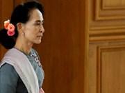 San Suu Kyi reunirá con presidente de Myanmar para transferencia del poder