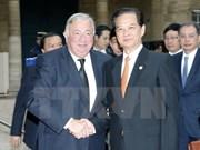 Premier vietnamita propuso el apoyo de Francia al acuerdo de asociación con UE