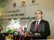 Organizaciones religiosas vietnamitas comprometidas con la protección ambiental